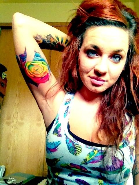 25 Best Ideas About Colorful Rose Tattoos On Pinterest
