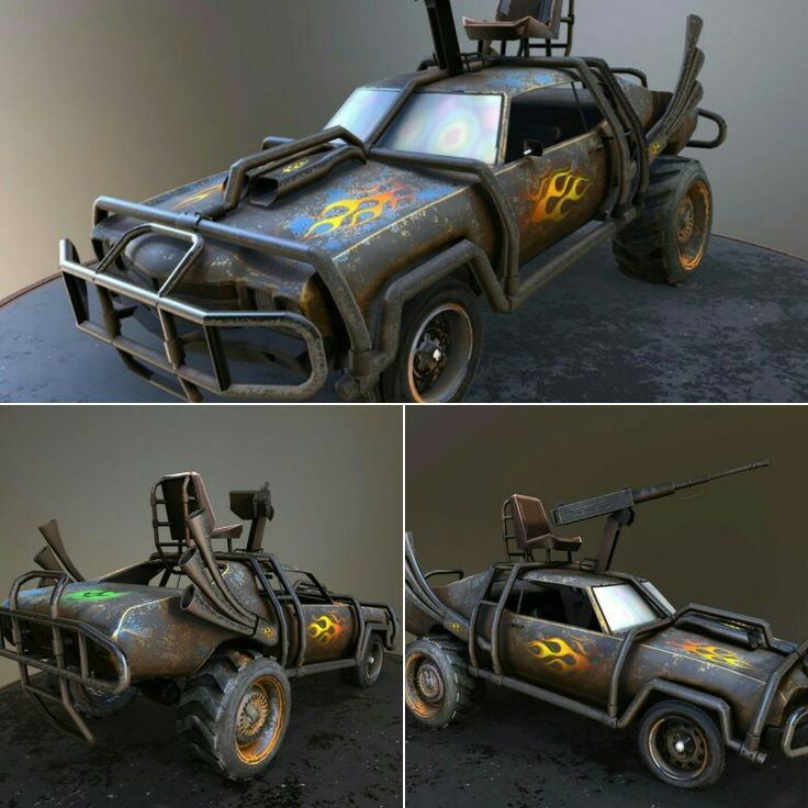 Great mad-max style car model can be purchased here: https://www.3dmodels-textures.com/desertPatrol