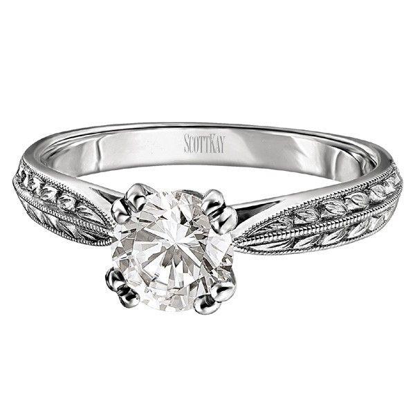 Scott Kay Palladium Engraved Three Sided Diamond Wedding: 71 Best Scott Kay Engagement Rings: Available At Http