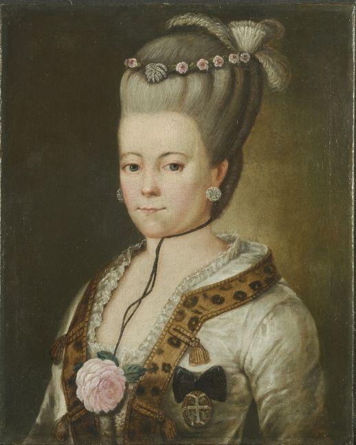 Portrait of Joanna Sapieha née Sułkowska   Joanna z Sułkowskich Sapieżyna (1736-1800)