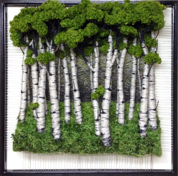 Dimensional Weaving - Martina Celerin 3D fiber art: Portraits of Trees are on my mind