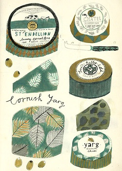 A selection of Cornish Cheeses.
