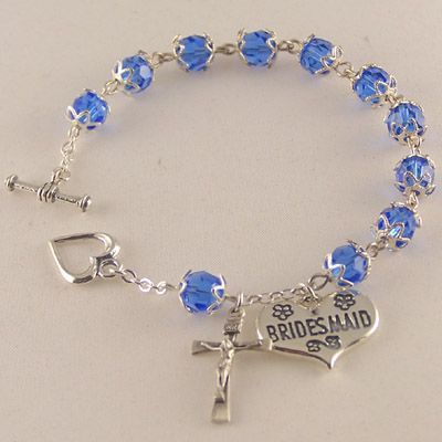 WeddingShopUSA.com: Swarovski® Wedding Rosary Bracelet, $59.95