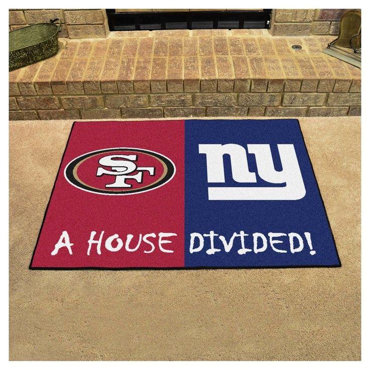 "NFL San Francisco 49ers/New York Giants House Divided Rug 33.75""x42.5"""