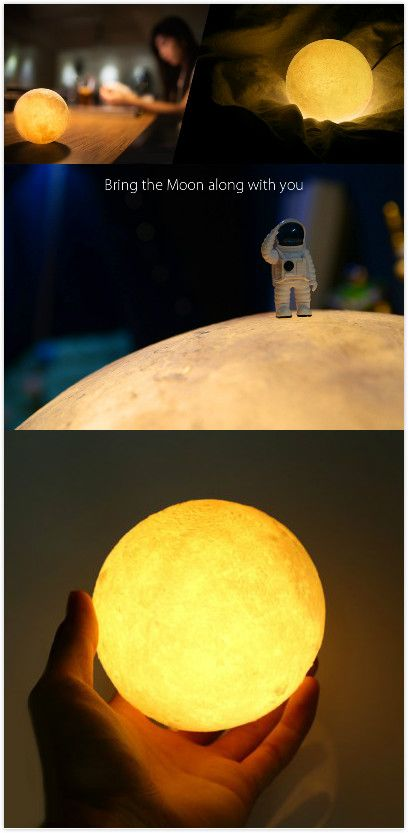 BRELONG Rechargeable LED Moon Lamp Night Light. #cool #gadgets #light #led