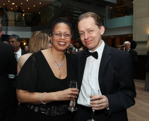 Monica and Professor Clive Washington at James Bond style charity ball in aid of the Bromley Foundation, the Radisson Blu Edwardian Hotel, Manchester