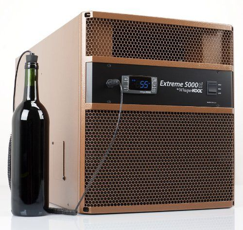 WhisperKOOL® Extreme 5000ti Wine Cellar Cooling Unit (up to 1,000 cu ft) by WhisperKOOLTM. $3465.00. Can be installed Through the Wall or Fully Ducted. The Extreme 5000ti introduces variable speed fans to WhisperKOOL's most advanced and powerful self-contained cooling system. Utilizing variable speed fans this high capacity unit can maintain optimal cellar conditions while operating at a quiet 57 decibels.. With same day free shipping, this value can't be beat. Capaci...