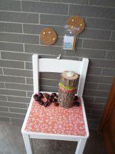 Brennender Schuh - Dekoration Gestaltung Eingangsbereich Haustür Windfang Herbst Pinnwand