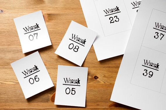 Printable 3x4 week cards for project life by KatiMolin on Etsy