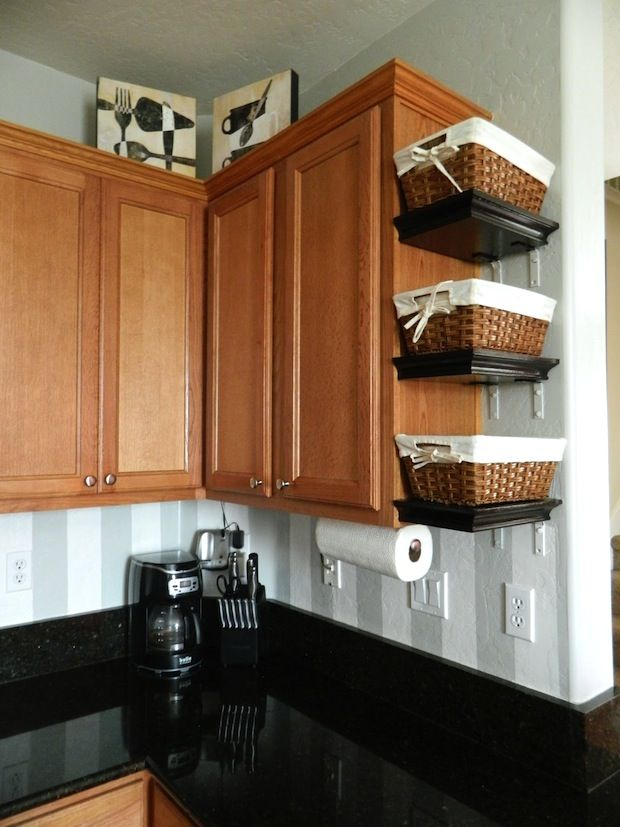 A Great Kitchen Shelving DIY Project On The Cheap