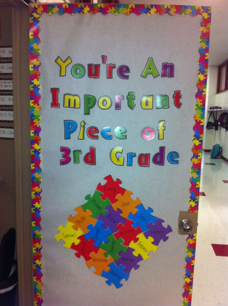Classroom Door Decoration Ideas Rd Grade ~ Best images about puzzle piece classroom on pinterest