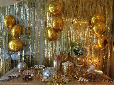 Gold party dessert table                                                                                                                                                                                 More