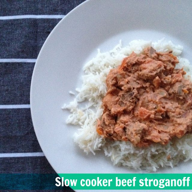 A tasty winter warmer dish, this slow cooker beef stroganoff is easy to make, the kids love it and is also gluten free.