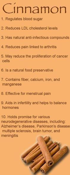 Cinnamon has many health benefits. Also, a study showed that for menstrual pain, cinnamon beat Ibuprofen. #naturalhealth #pain
