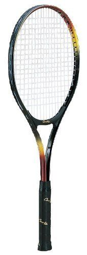 Champion Sports 27in Midsize Head Tennis Racket by Champion Sports. $39.43. For players seeking equal parts power and control, try the Champion Sports Midsize Head Tennis Racket. This 27in tennis racket features a durable aluminum frame, a wide body construction and a comfortable leather grip. The Midsize Head Tennis Racket is pre-strung with nylon strings, so you can easily get back on the court!