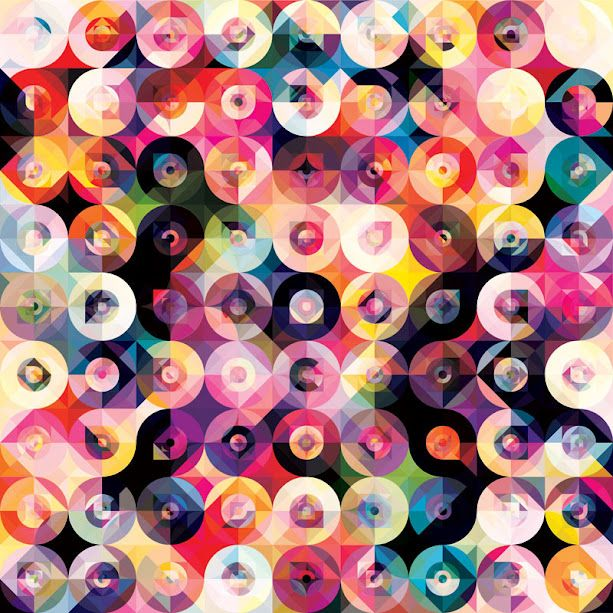 Kaleidoscopic and Hypnotic Geometric Compositions by Andy Gilmore #colorful #graphic #design #circles