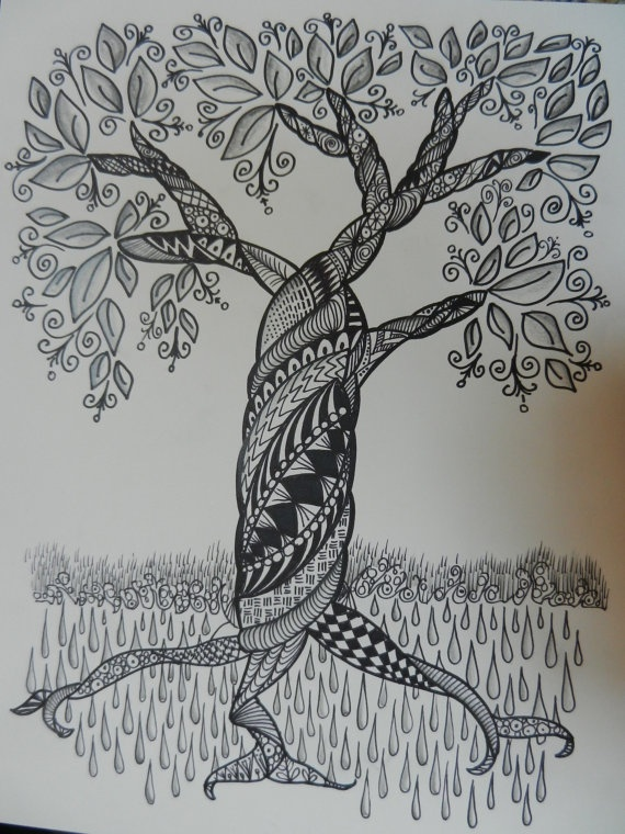 Zentangle Tree by cre8iveart on Etsy, $10.00