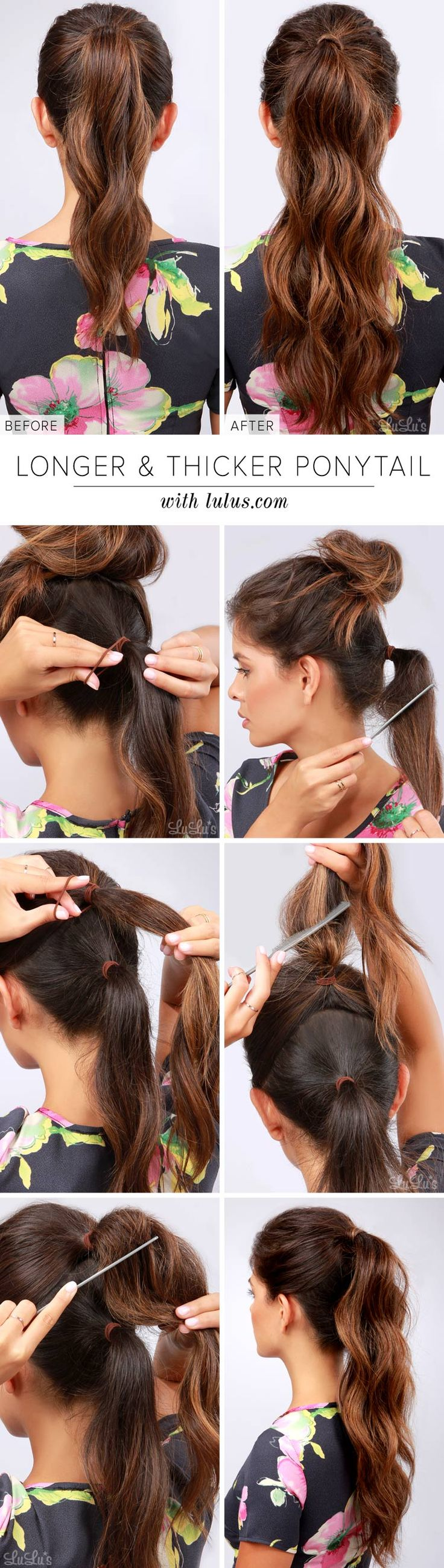 Trick by making thinker and longer ponytail in Minutes!!