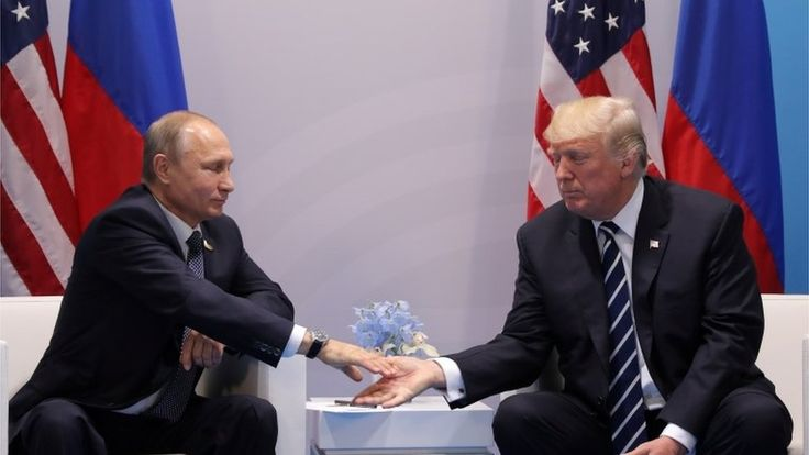 """Trump: I get along 'very well' with Putin https://tmbw.news/trump-i-get-along-very-well-with-putin  Media playback is unsupported on your devicePresident Trump says he gets along """"very well"""" with Russia's President Vladimir Putin.He was interviewed by the Christian Broadcasting Network days after his much anticipated meeting with Mr Putin at the G20 summit in Hamburg.The US president also said he was sure Mr Putin would have preferred Hillary Clinton was sitting in the White House.Several…"""