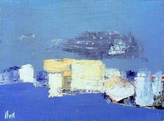Nicolas de Staël, Paysage Méditerranée, 1954, oil on canvas, 23 5/8 by 31 7/8 in. 60 by 81 cm. Courtesy of Mitchell-Innes & Nash