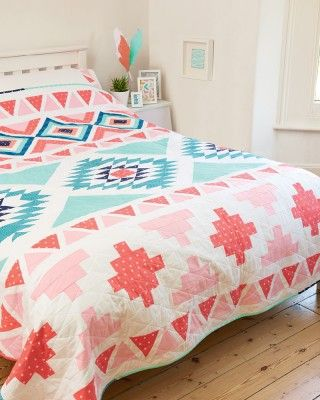 Modern Aztec quilt by Cristina Tepsick for Love Patchwork & Quilting issue 21