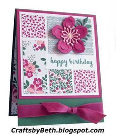 Crafts by Beth: Love Blossoms Happy Birthday