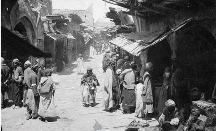 Photographie d'un bazar à Kerkûk en 1918, au sud du Kurdistan.Kerkûk dilê Kurdistanê ye !