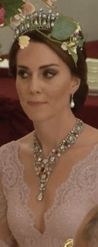 12 Jul 2017 - Duchess of Cambridge attends Spanish State Banquet at Buckingham Palace