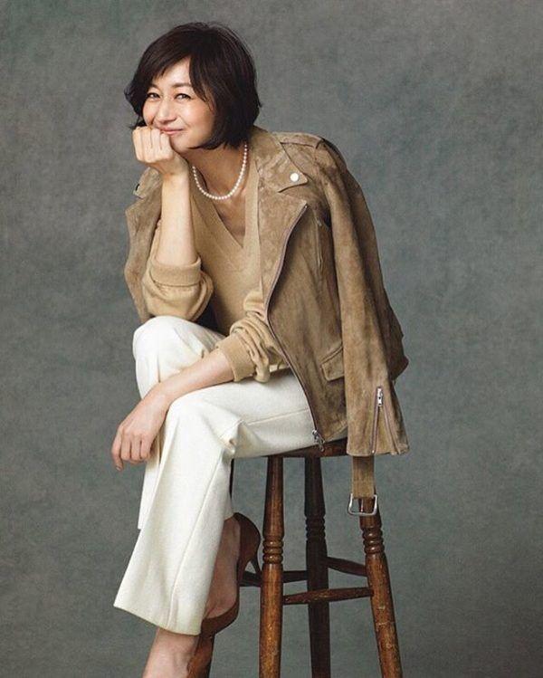 人気モデル富岡佳子さんのコーディネートに学ぶ、大人かわいさと上品さ☆   folk