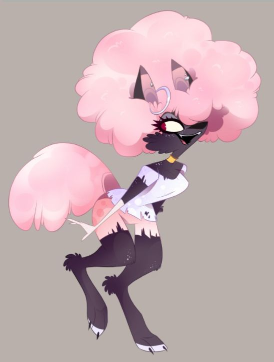 Secret art of a new werewolf character named Magpie by Vivziepop. #Zoophobia #Vivzmind
