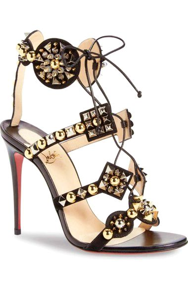 e3333df46d72 Christian Louboutin Kaleikita Lace-Up Sandal available at  Nordstrom on the  lookout for limited offer