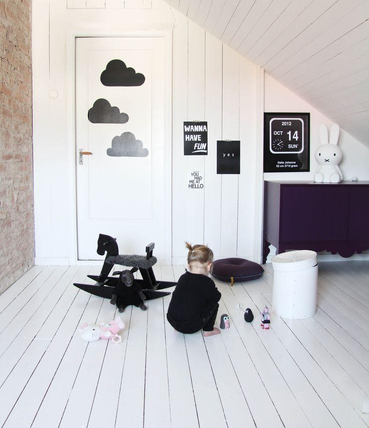Black and White boys rooms Mini Willa