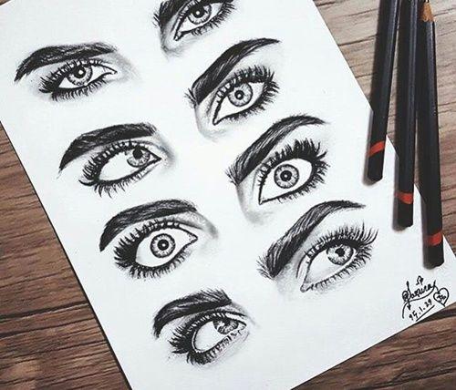 Imagen de cara delevingne, drawing, and eyes