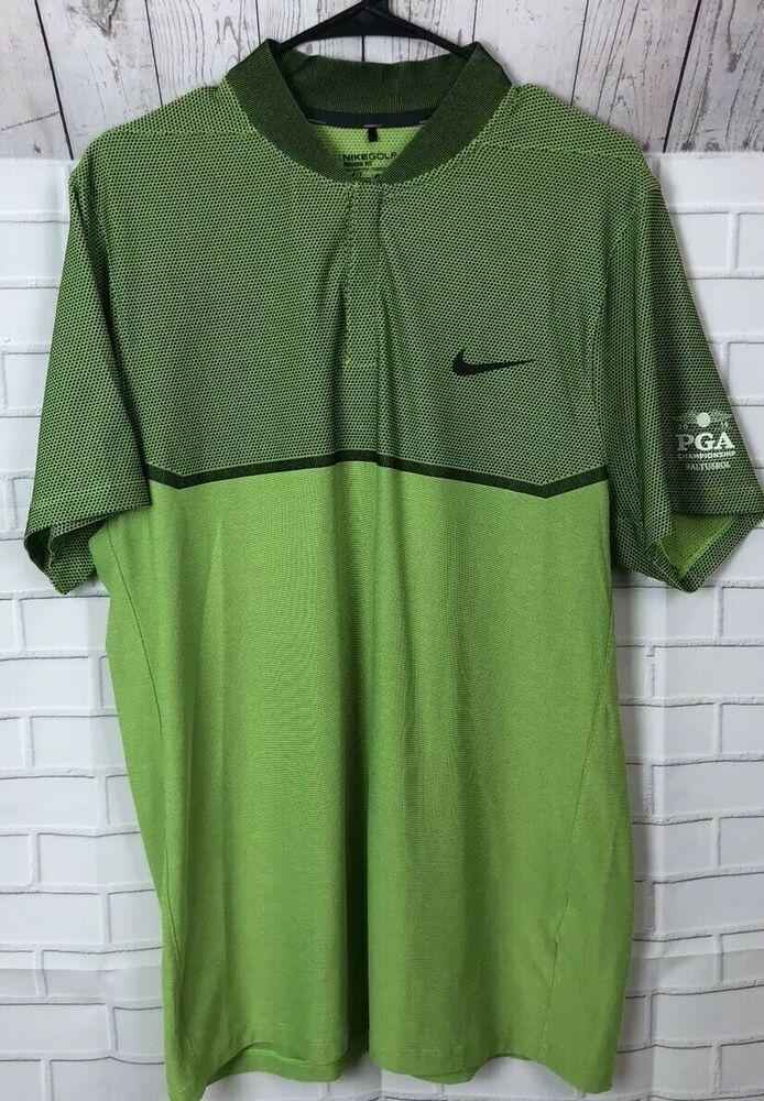 6c52541c3 Nike Golf Modern Fit Dri-Fit Blade Collar Green 2016 PGA CHAMPIONSHIP Golf  Large #fashion #clothing #shoes #accessories #mensclothing #shirts (ebay  link)