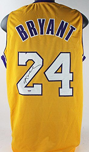 Lakers Kobe Bryant Authentic Signed Yellow Jersey Autographed PSA/DNA -- Click on the image for additional details.