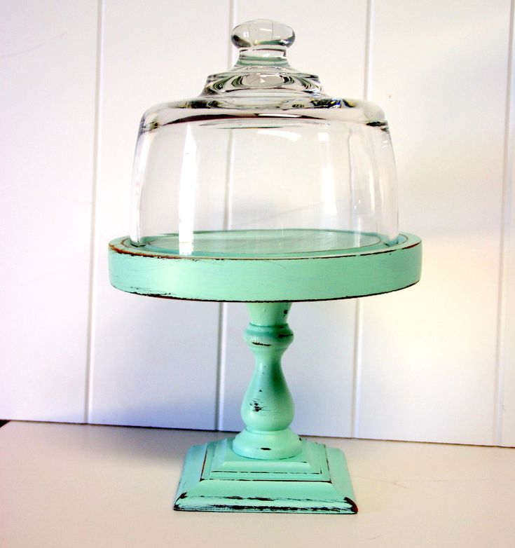 love the color...could easily be made out of a goodwill cheese dome and candlestick base