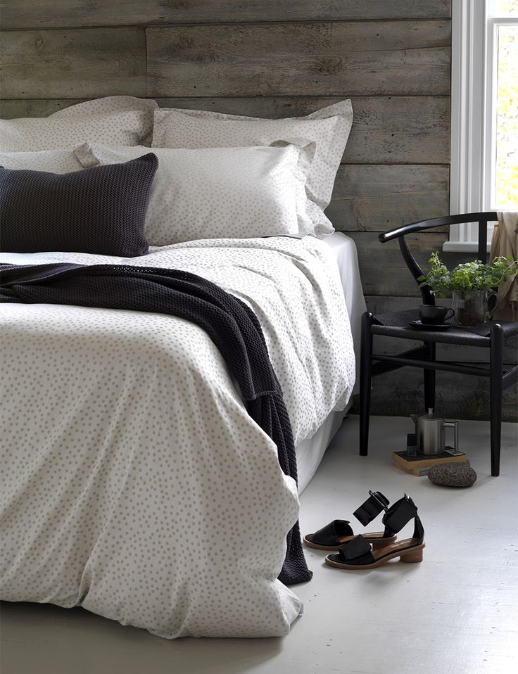 Dotty Coffee Cream Bed Linen #bedlinen