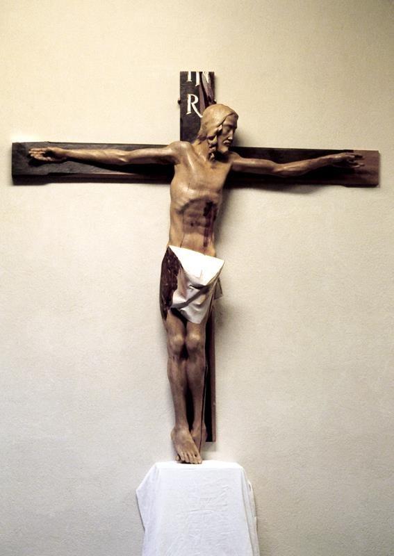 jerzy fober, znak wiary, 2002, drewno polichromowane