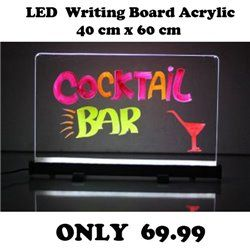 LED WRITING BOARD 40 X 60 CM ACRYLIC