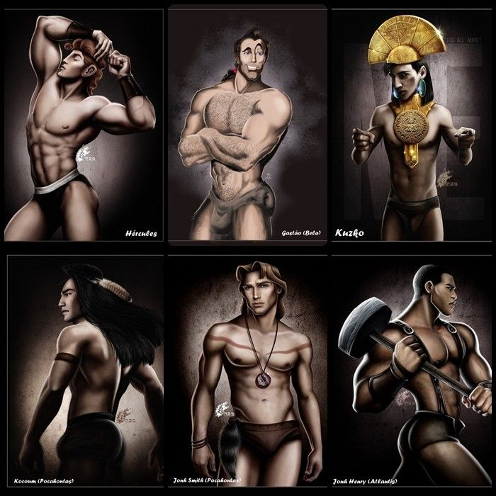 Sexy disney princes are