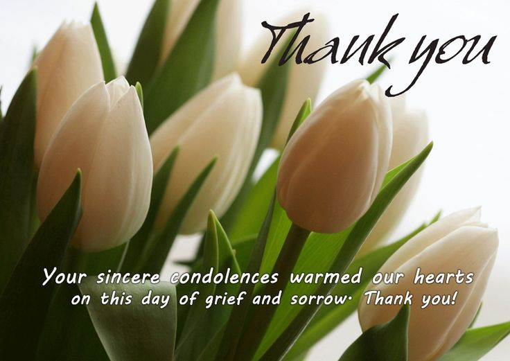 Thank You Messages For Condolences & Thank You Notes