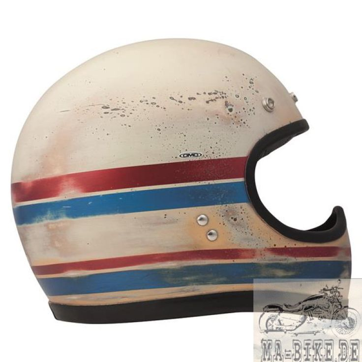 DMD Racer Line Carbon Retro Cross Helm ECE 22.05 handbemalt