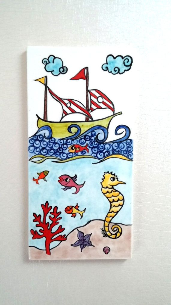 ceramic fish decoration wall hanging ceramic by HilalCiniCeramic