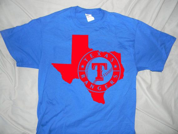 Texas Rangers State Design Unisex T-shirt by JSDesignsandGraphics