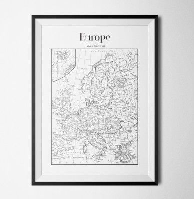 Poster - Map Europe