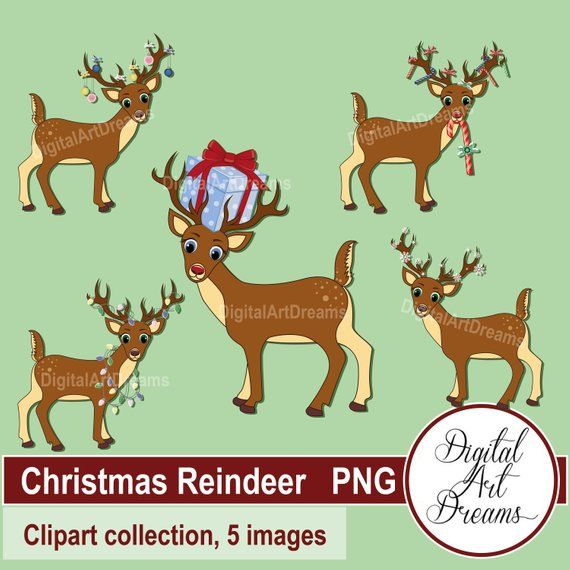 Santa And Reindeer Clipart - Cliparts.co