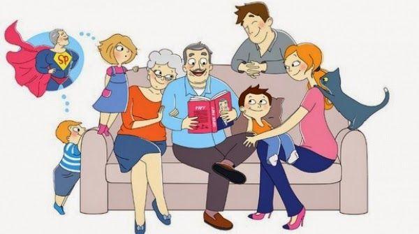 vocabulaire de la famille, compréhension orale et texte à compléter