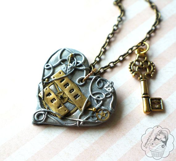The Iron Fey  Necklace by colourfulblossom on Etsy, $25.75