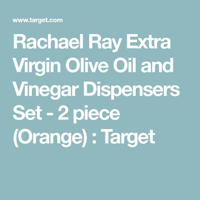 Rachael Ray Extra Virgin Olive Oil and Vinegar Dispensers Set - 2 piece (Orange) : Target