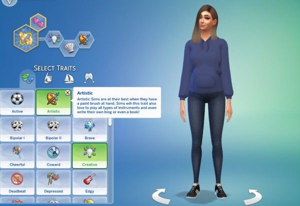Mod The Sims: Artistic Trait by GoBananas • Sims 4 Downloads | sims